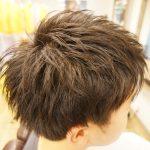 【メンズカット】クセで膨らみやすい髪質にメリハリを・・・