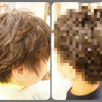 【柔らかな直毛にピンパーマ】後頭部のボリュームも綺麗♪