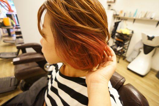 三鷹 武蔵野市 美容室 インナーカラー ロコルカラー ピンク