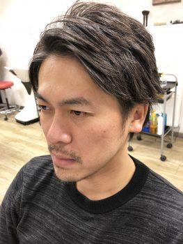 メンズカット 三鷹 武蔵野市  メンズセット 前髪 下ろす 上げる