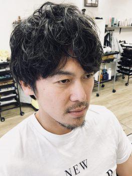 三鷹 武蔵野市 美容室 美容院 メンズパーマ パーマ メンズカット カット ピンパーマ