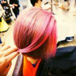 【ダブルカラー】個性的な色もやってます(ピンク)
