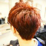【ダブルカラー】赤髪  アジアンカラー